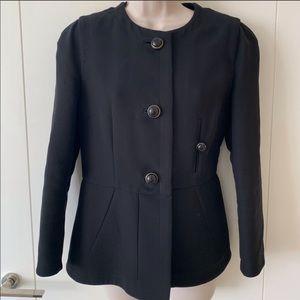 Marni Black Woven Cotton Jacket Blazer Sz 42 US 6